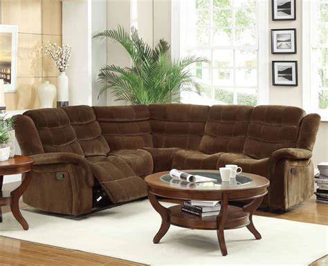 sofa sectional with recliner norton brown microfiber reclining sectional sofa s3net