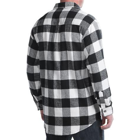 Flanel Black Big White moose creek brawny plaid shirt for save 75