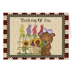 thinking of you greeting card zazzle