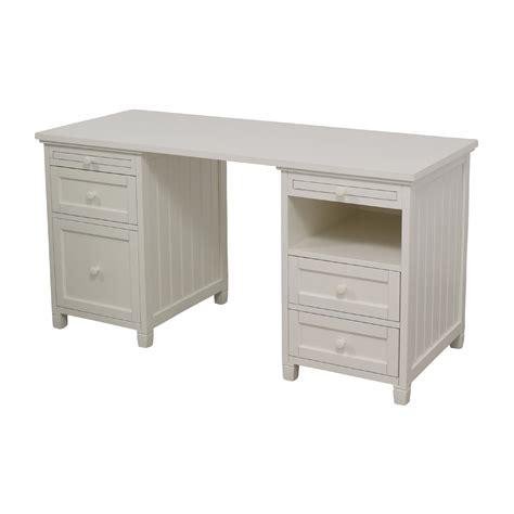 74 Off Pottery Barn Pottery Barn Off White Four Drawer Pottery Barn White Desk