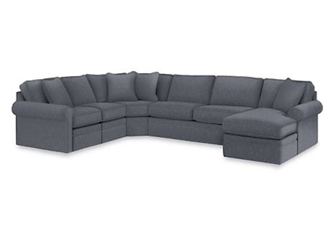 lazy boy collins sofa in navy living rooms