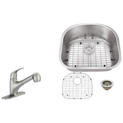 Kitchen Sink Brush Ipt Sink Company Undermount 23 In 16 Stainless Steel Kitchen Sink In Brushed Stainless
