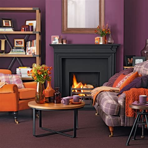 purple living room ideas ideal home purple and orange living room ideal home