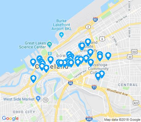 downtown cleveland map downtown cleveland apartments for rent and rentals walk
