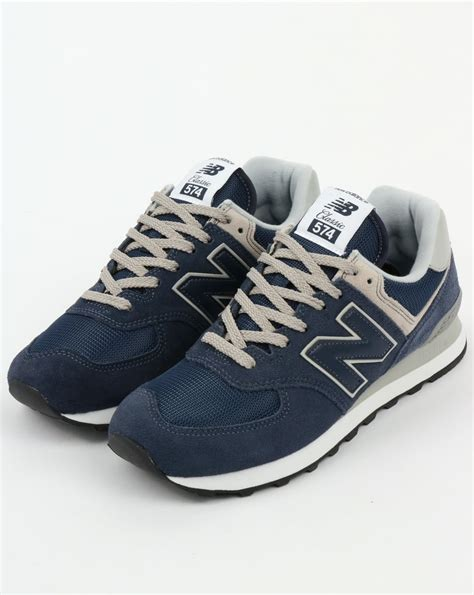 New Balance 574 Grey Blue new balance 574 trainers navy grey blue running shoes