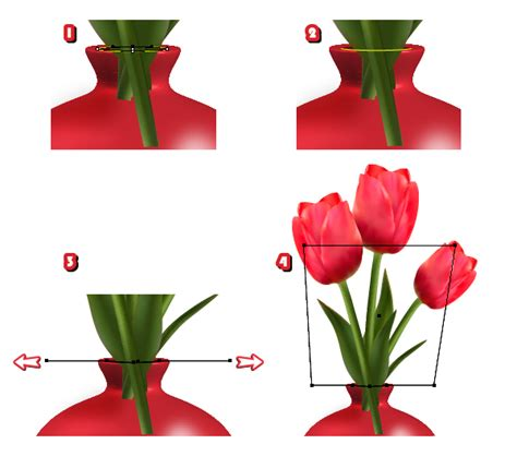 create detailed tulips with gradient mesh without the