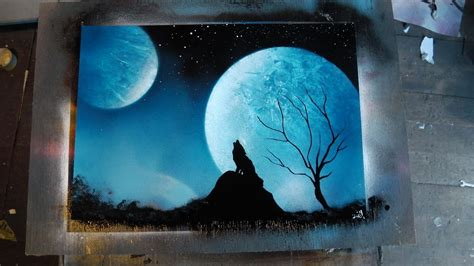 spray painting how to how to spray paint blue wolf