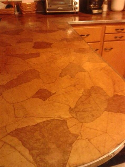 Brown Paper Bag Countertops by 1000 Ideas About Countertop Covers On