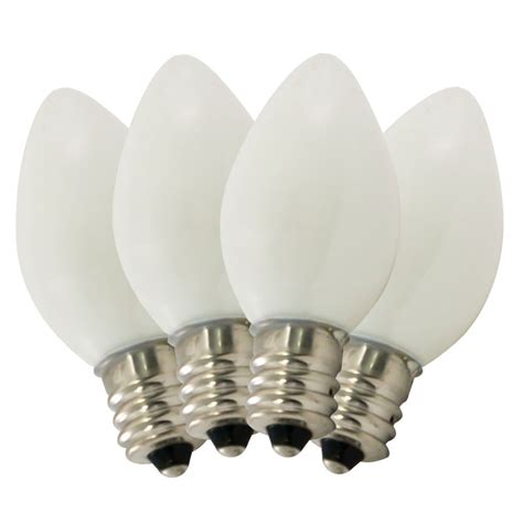 ceramic white c7 stringlight bulbs 4 pack