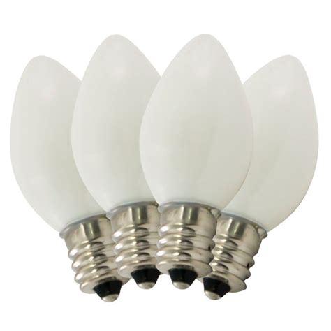 ceramic white c7 stringlight bulbs 4 pack