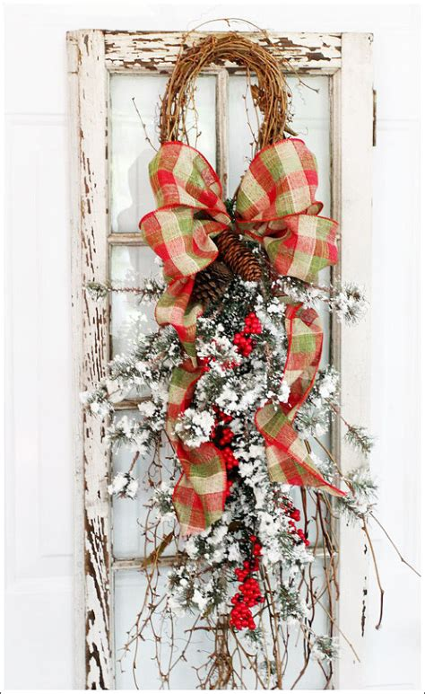 hometalk christmas grapevine and pine swag