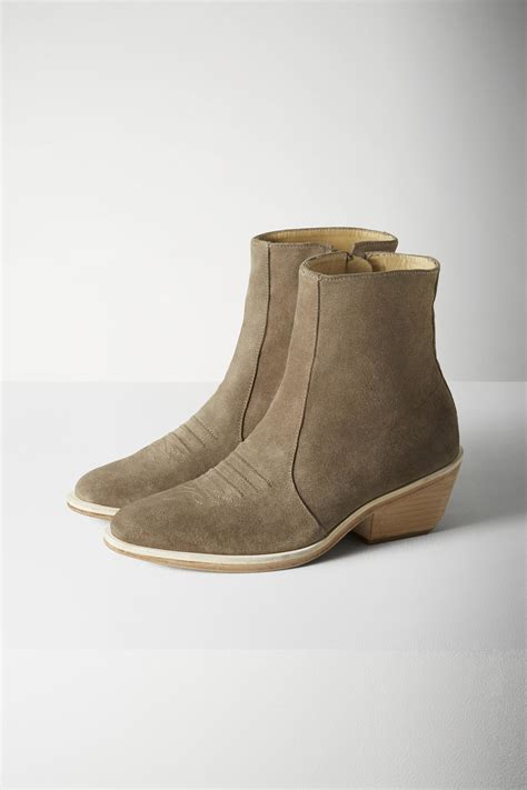 rag and bone boots lyst rag bone suede ankle boots in green