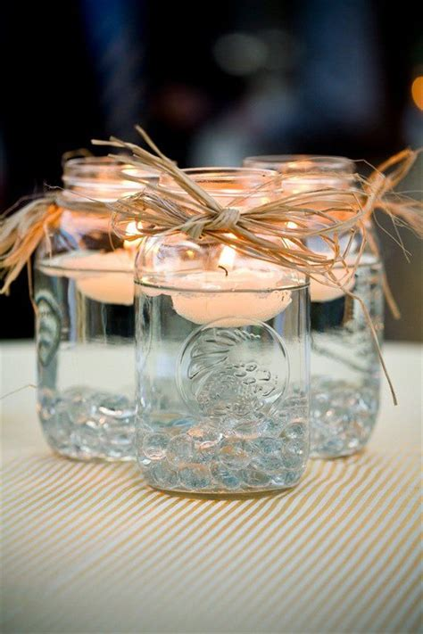 wedding centerpieces with jars and candles jar candle wedding centerpieces