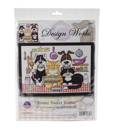 design works at home design works home sweet home counted cross stitch kit jo ann