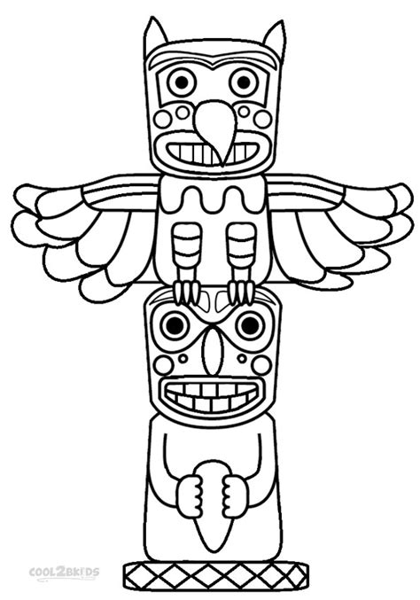 Totem Pole Coloring Pages printable totem pole coloring pages for cool2bkids