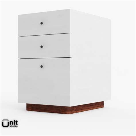 west elm file cabinet file modern cabinet west 3d max
