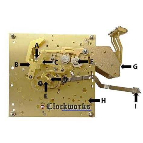 clock movement parts diagram kieninger clock parts sks clockworks