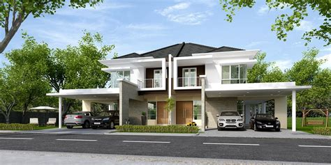 double storey detached house design crescent park residences by kan jia development sdn bhd
