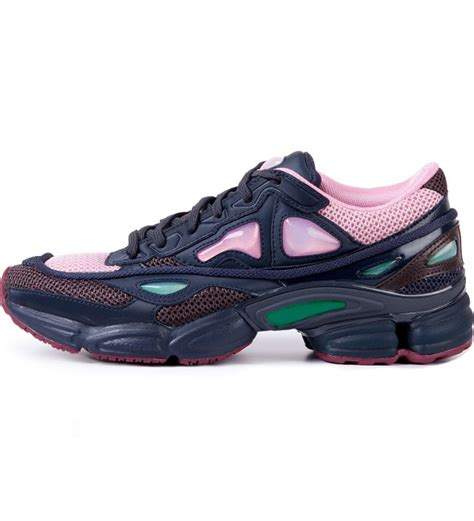 Raf Simons Shoes Pink by Raf Simons Adidas X Raf Simons Pink Ozweego 2 Runner In Runner On Basic Sole Shoe Hypebeast Store