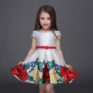 Dresses children embroidered party dresses bridesmaid dress girl kids