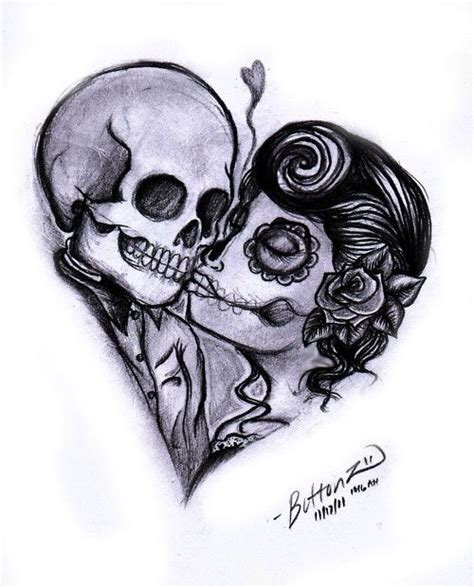 day of the dead couples tattoos day of the dead inspired i like it except