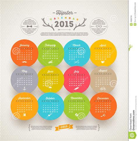 rk design calendar 2015 hipster calendar 2015 stock vector image of note banner