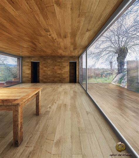 Cabin Interior Walls - cabin with sliding glass interior walls and timber decks