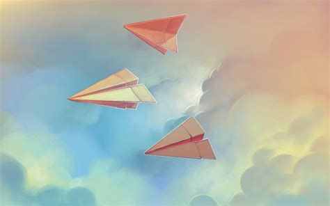wallpaper of craft paper airplanes wallpaper hd wallpapers