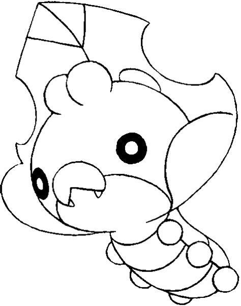 Pokemon Coloring Pages Sewaddle | image gallery swaddle pokemon
