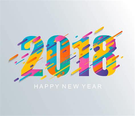 new year modern design modern happy new year 2018 design card stock vector