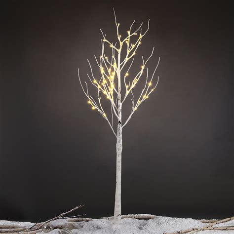 twig tree home decorating 1 5m 5ft 72led silver birch twig tree warm white light
