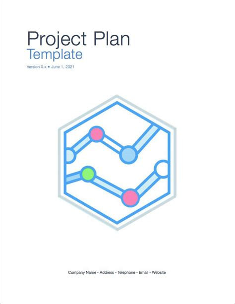 project cover page template project plan template apple iwork pages numbers