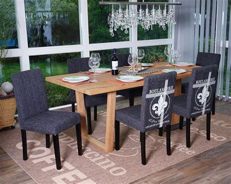colore sala da pranzo set 6x sedie littau tessuto per sala da pranzo 43x56x90cm