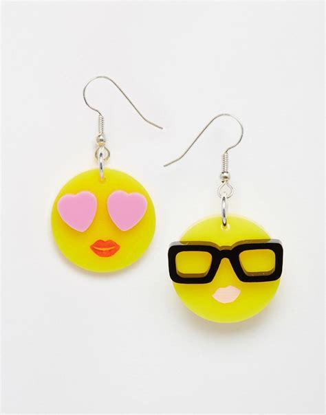 emoji earrings tatty devine tatty devine emoji earrings exclusive at asos