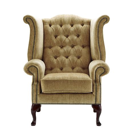 mink armchair mink chenille queen anne handcrafted in the uk