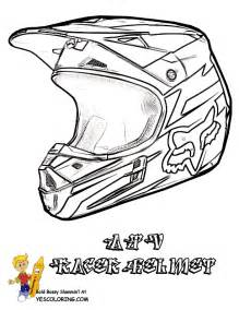 ATV Coloring Of Racing Helmet sketch template