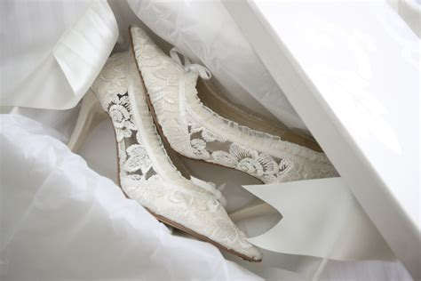Schuhe Ivory Spitze by Ivory Lace Wedding Shoes Lace Bridal Shoes House Of Elliot