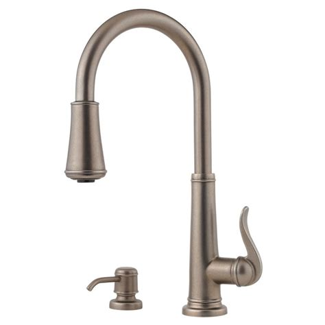 pewter kitchen faucet faucet gt529 ypk in brushed nickel by pfister