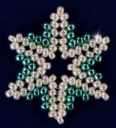 free bead patterns and ideas snowflake 93 ornament