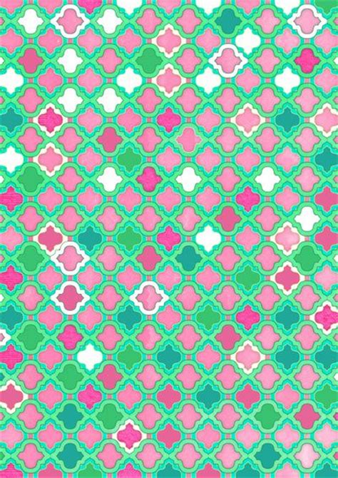 pink moroccan pattern girly moroccan lattice pattern in pink mint emerald