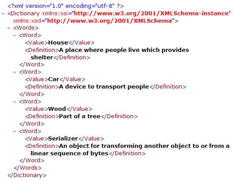 html xml tutorial pdf serializing xml with stylesheet codeproject