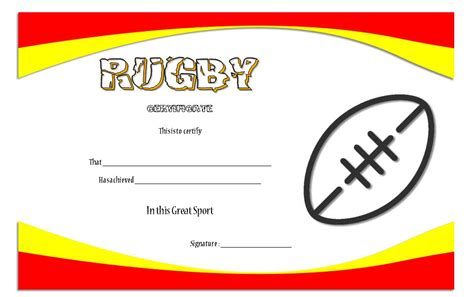 rugby league certificate templates rugby certificate template 2 best 10 templates
