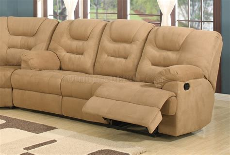 Plush Sectional Sofa Beige Easy Rider Plush Fabric Modern Reclining Sectional Sofa