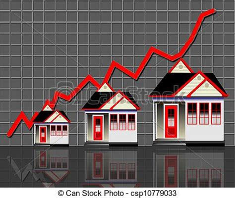 drawings of home values and prices home values going up