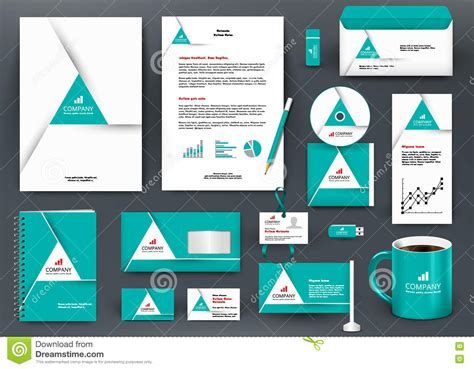professional universal green branding design kit with