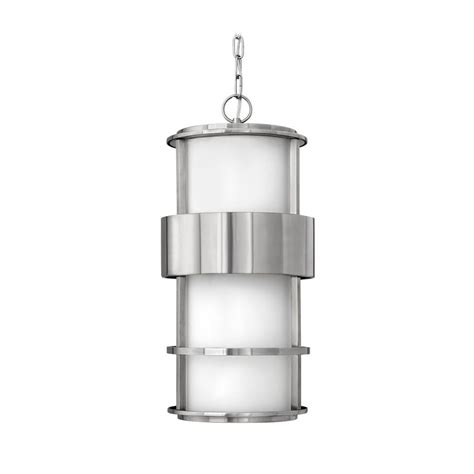 stainless steel outdoor lights modern outdoor hanging light with white glass in stainless