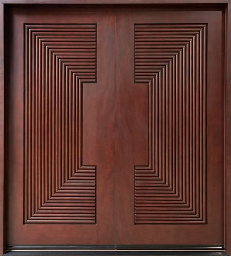 Modern Flush Main Door Detail Plan N Design » Home Design 2017