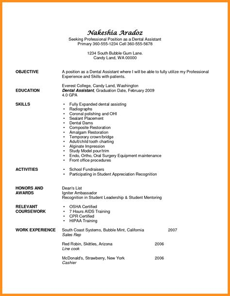 dental assistant resume objectives sle resume dental sales sle resume resume daily