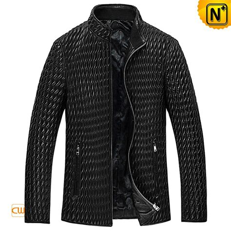 Quilted Leather Jackets by Mens Quilted Leather Jacket Cw850009