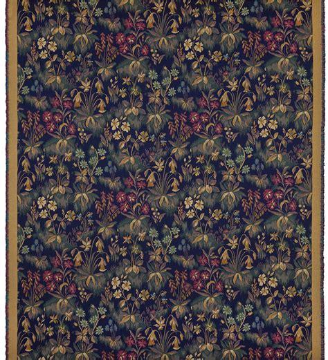 cluny mille fleur tapestry fabric fleur de lys tapestries